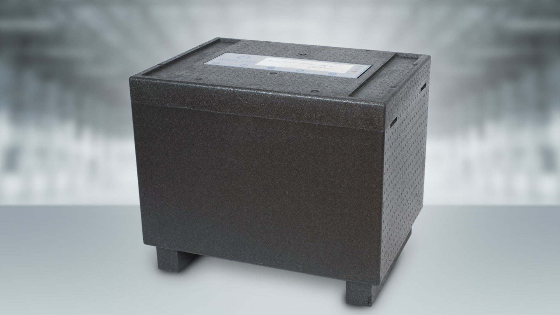 Dry ice transport box White Lion Black Box 100