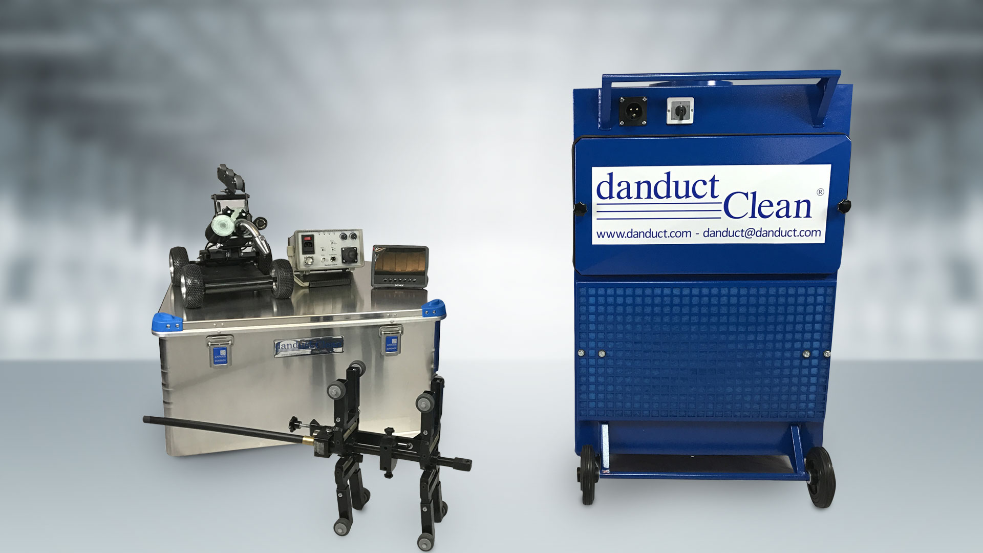 The danduct equipment for the cleaning of ventilation ducts