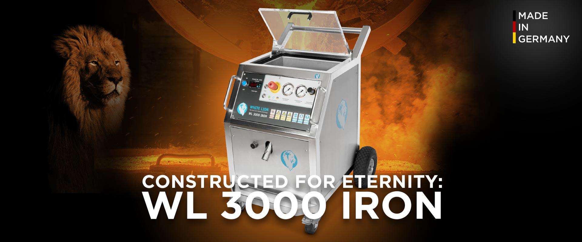 Die Trockeneisstrahlanlage White Lion WL 3000 Iron ist für extreme Anforderungen entworfen worden.