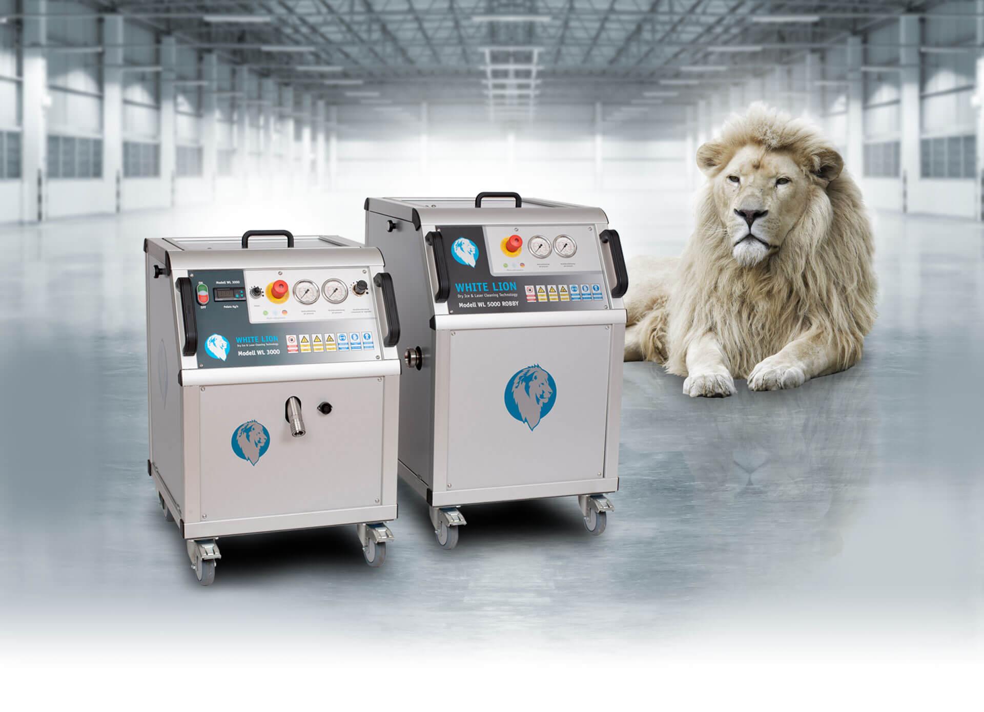 Trockeneisstrahlanlagen von White Lion sind robust, hochqualitativ und bequem in der Anwendung.