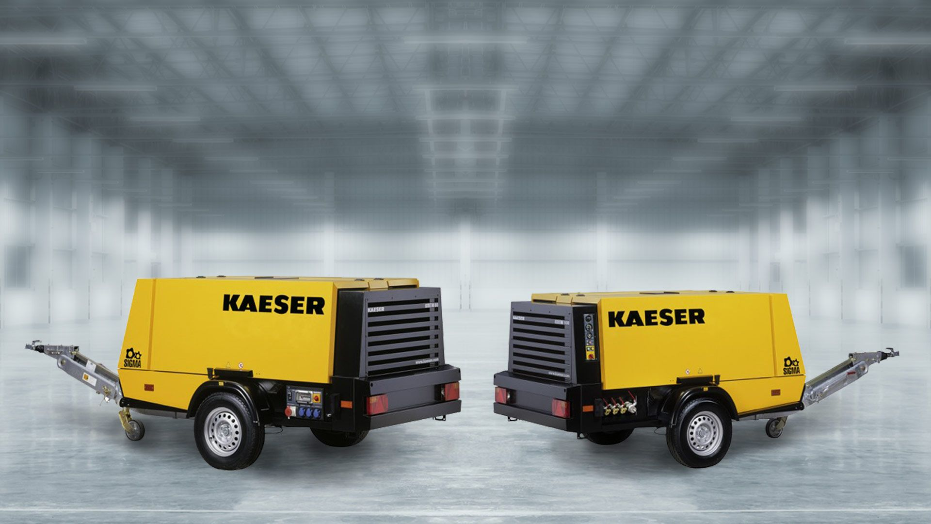Two air compressors from KAESER
