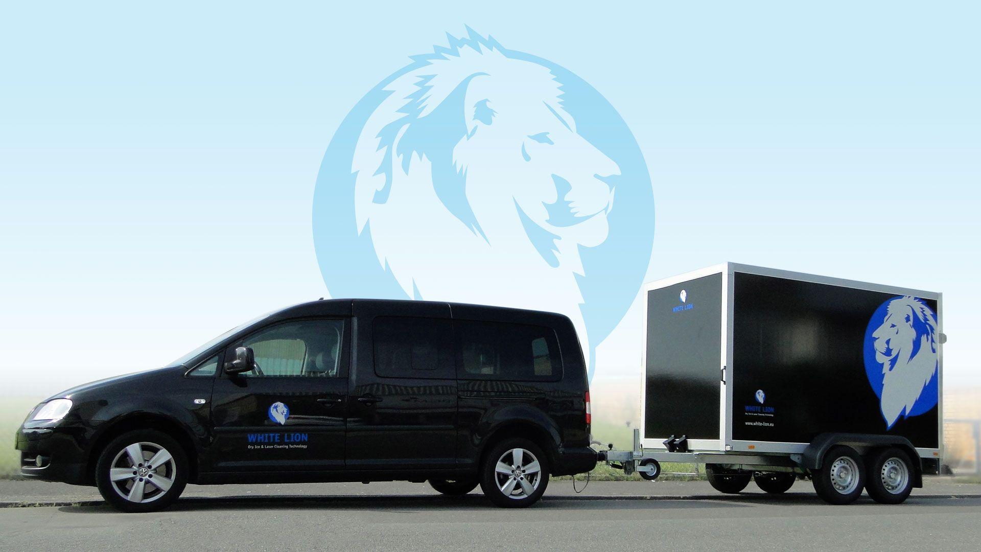 White Lion Trockeneisreinigung Team Fahrzeug