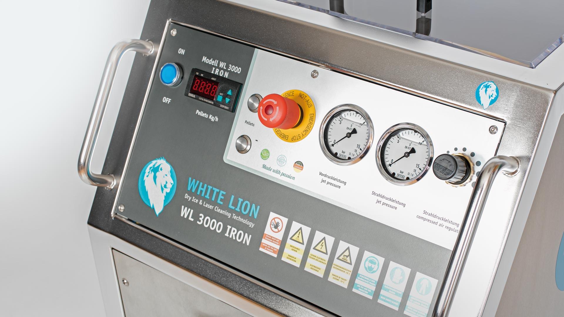 Trockeneisstrahlgerät WL 3000 Iron Display